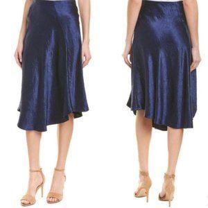 NWT Vince Asymmetrical Crinkled Satin Skirt